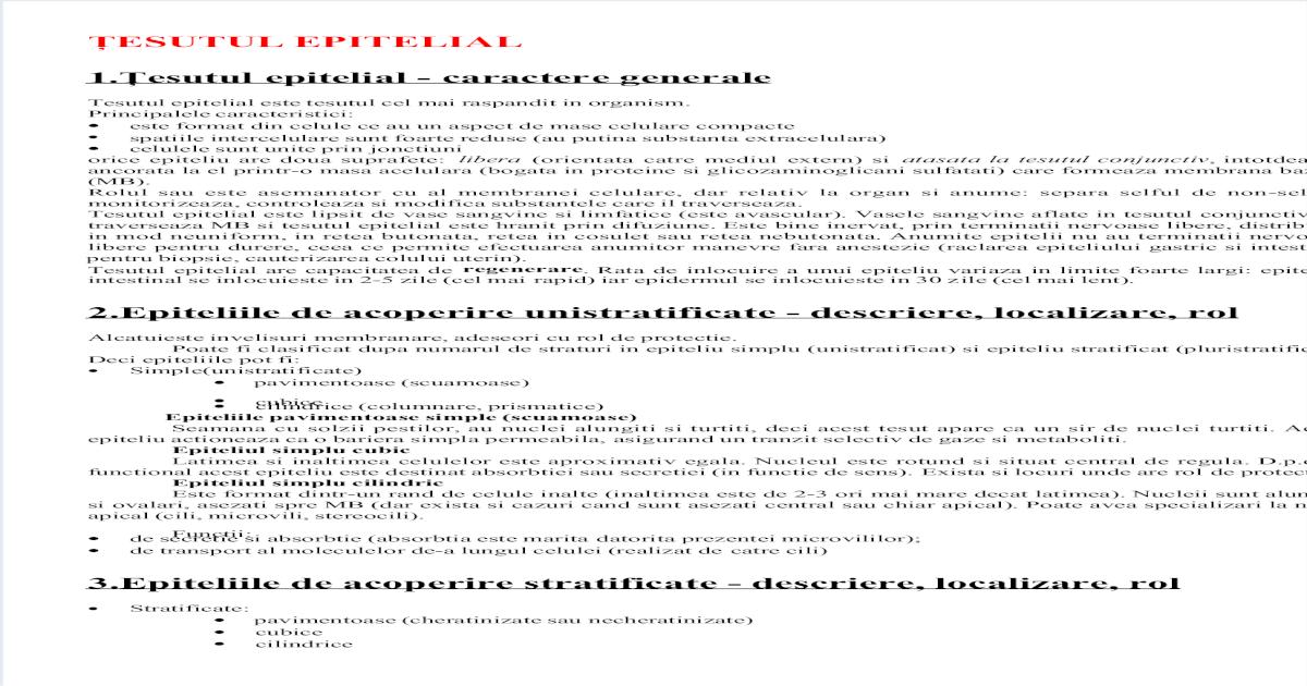 Histologie – cursuri text - OvidiusMD