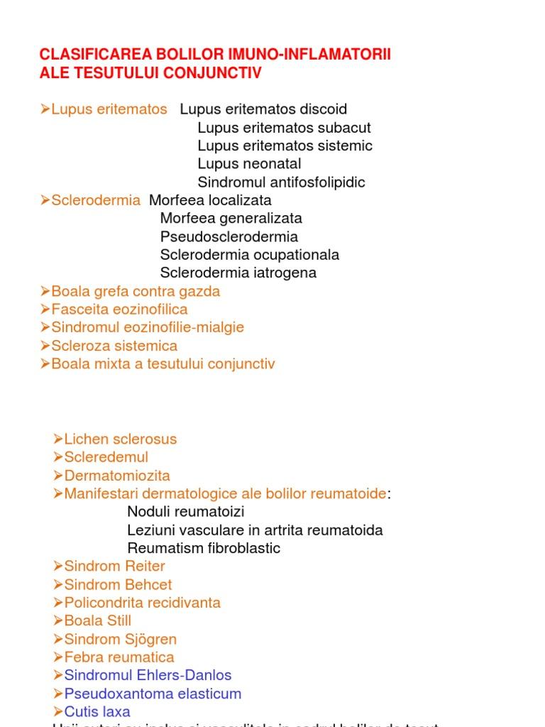 boală inflamatorie sistemică a țesutului conjunctiv