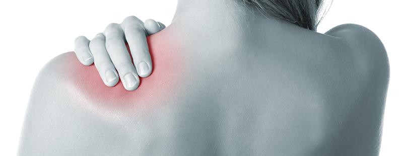durere la nivelul spatelui și articulației umărului
